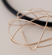 Space and line gold pendant from McLachlan Studio