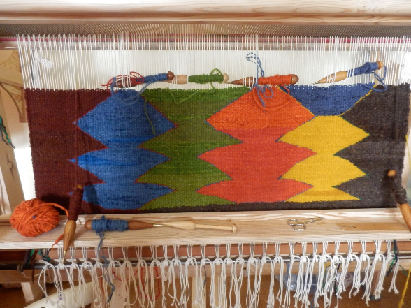 Tapestry rug in progress