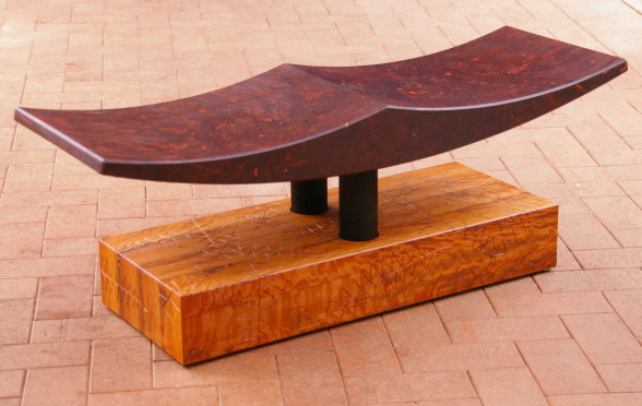 Dwelling up bench by Toby Muir Wilson