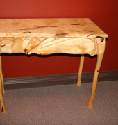 Hand carved huon pine table
