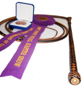 24plait, 7ft Kangaroo Leather Stockwhip and prizes from the Royal Easter Show, Sydney