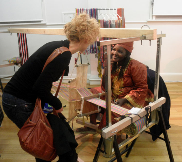 Discussing Weaving with Baindu Tamba