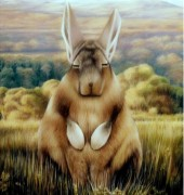 Image of Amanda Parer's painting, 'Outwards'.
