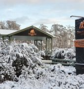 Cradle Mountain Hotel in the snow 3