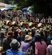 Taiko drummers at the Cygnet Folk Festival