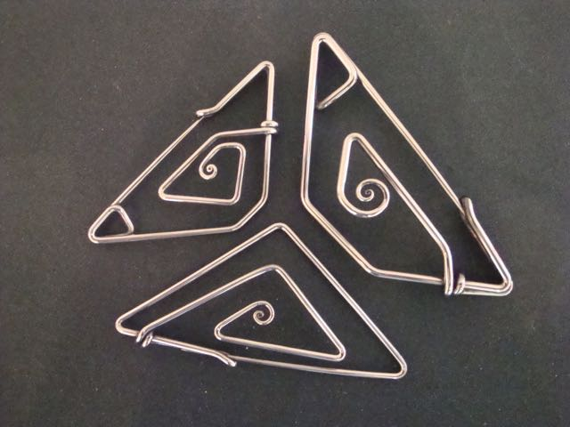 Stainless steel scarf pins