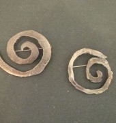 Forged steel Brooches