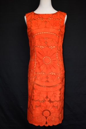 Hand dyed embroidered vintage tablecloth dress