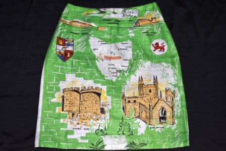 Skirt made from vintage linen teatowel