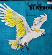 Vintage linen teatowel upcycled as cushion cover