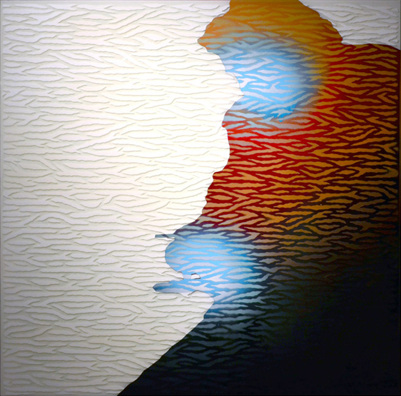 Image of Jamin's painting - Self Mediating Simulacrum