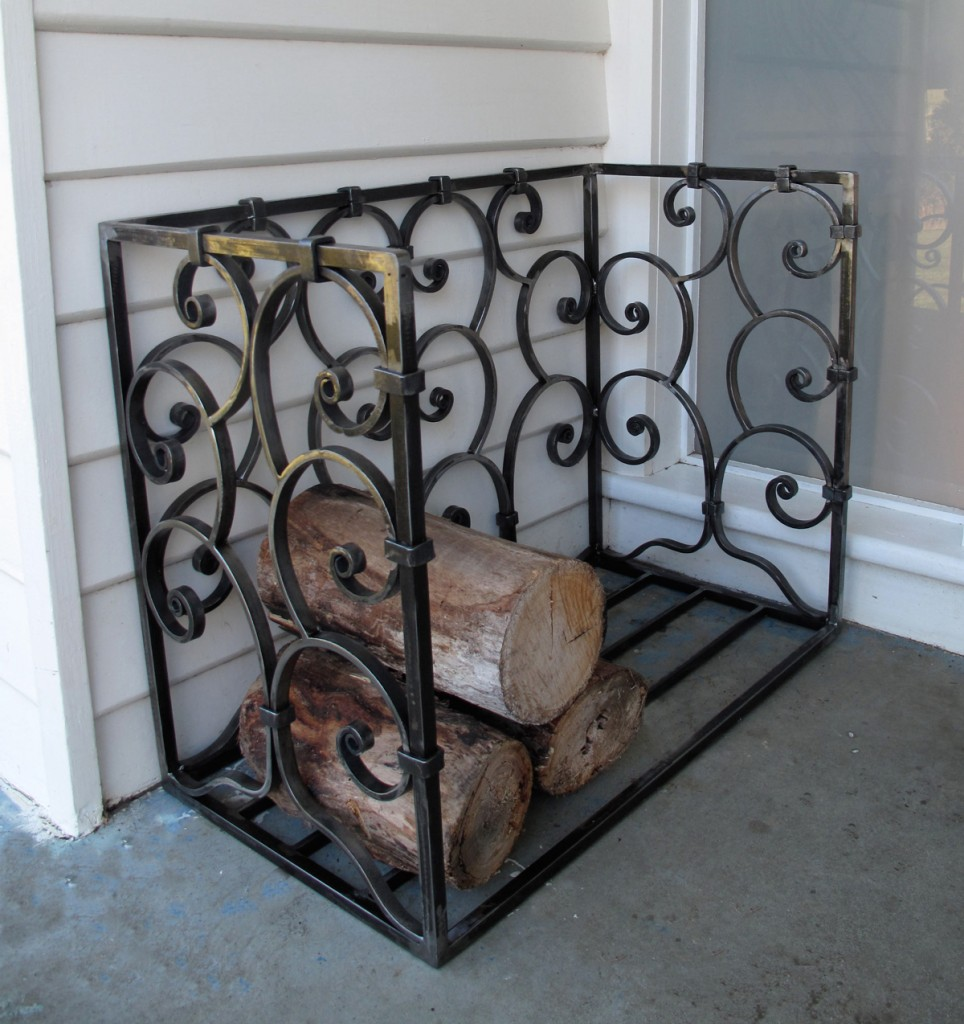 wrought iron Wood box