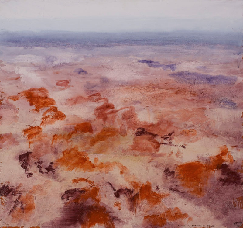 Image of Philip Wolfhagen's painting, 'Landscape Reinvention No 22'.