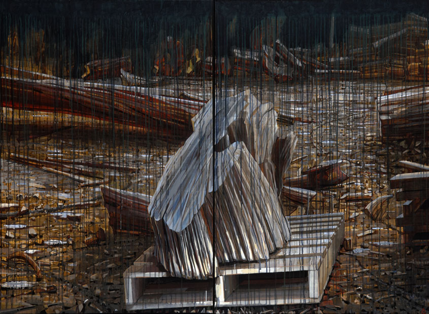 Image of Raymond Arnold's painting, 'Nature is a Workshop I'.