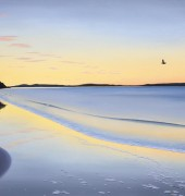 Image of Richard Stanley's painting, 'Sunrise - Kingston Beach II'.