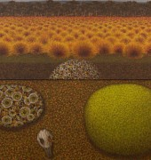 Image of Richard Wastell's painting, 'Skullbone Plains'.