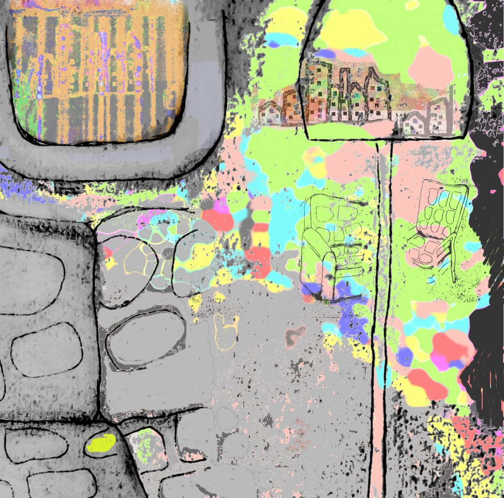 Room with a View - Collograph/archival pigment print