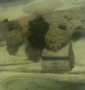 Image of Stephen Lees' painting, 'Ted's Shed'.