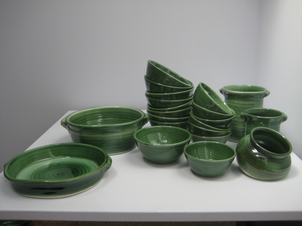 Ceramic plates and bowls by Rudolf Sibrava