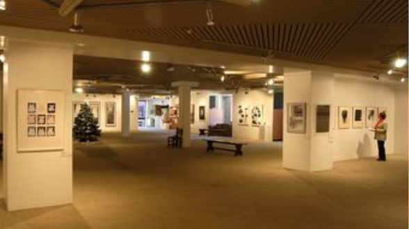 Inside the Burnie Regional Art Gallery