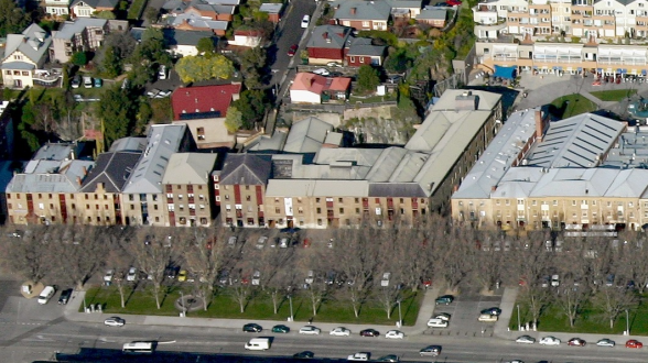 Aerial photograph of Salamanca Arts Centre