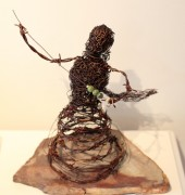 Wire sculpture of a woman