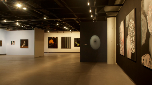 Image of Academy Gallery with an exhibition curated by Catherine Wolfhagen