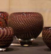 Handmade glass bowls at the Tasmanian Craft Fair