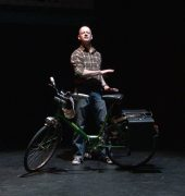 Peddling Back, Jeff Michel, Blue Cow Theatre, 2016. Photographer: Tony McKendrick