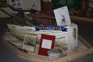 An image of the whaling display at the Channel Heritage Centre