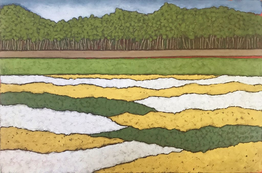 Landscape in Gold and Tin 60.9 x 91.4 cm oil on canvas