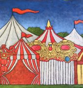 The Carnival 2 61 x 91cm oil on canvas