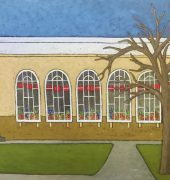 The Conservatory (Chinese New Year) 60.9 x 91.4 cm oil on canvas