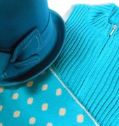A selection of woollen accessories