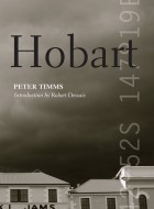 Book cover on 'Hobart' by Peter Timms.