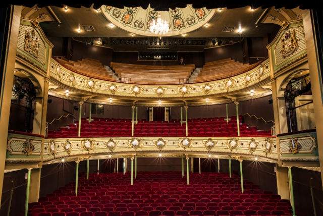 View from the stage of the Theatre Royal