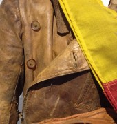 The flying suit worn by Tasmanian Captain Cottier during his service as a Bombardier in the First World War, from the Royal Australian Air Force Association (Tasmanian Division) Museum collection.