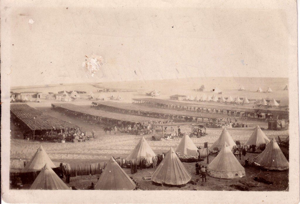 Army camp at Serapeum taken by Walter Quinn who served with the 11th Light Horse Regiment, from the Derby Schoolhouse Museum collection.