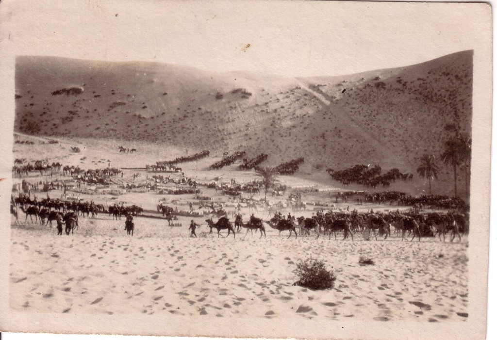 Desert camp taken by Walter Quinn who served with the 11th Light Horse Regiment, from the Derby Schoolhouse Museum collection.