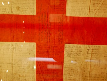 The Baily Flag, 1914, wool bunting, cotton, cellulose