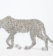 Pen, ink and watercolour on linen 91 x 123cm
