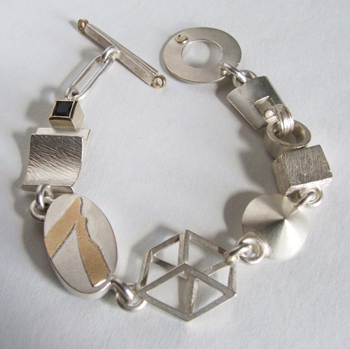 silver and yellow gold