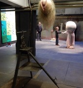 Seedling (foreground), The Bridge (background) by Patricia Piccinini Peter Hennessey