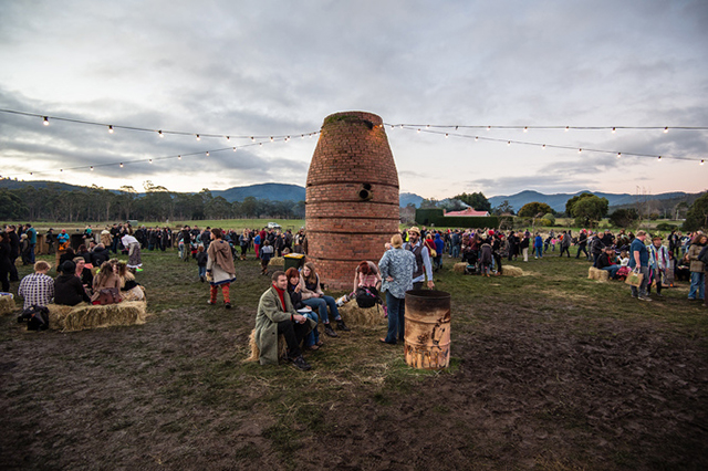 Mid Winter Fest runs as part of Dark Mofo in the Huon Valley, Tasmania