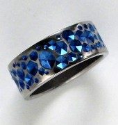 Blue Virtual Stones Ring