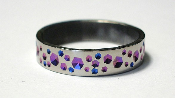 Titanium Pink & Blue Ring