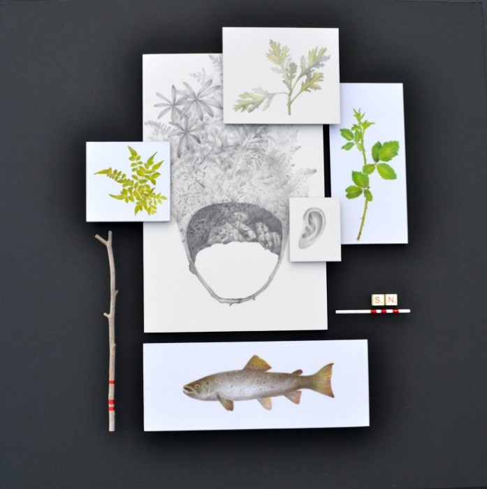 pencil, paper & found objects