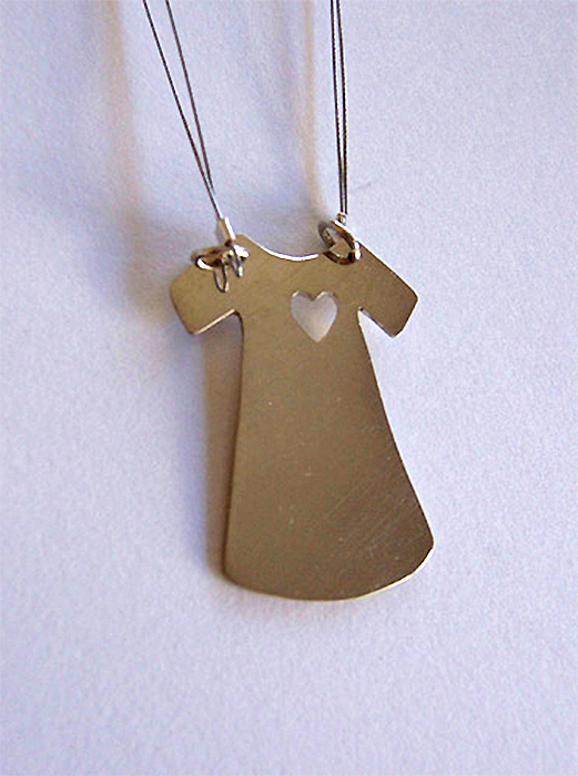 Dress Necklace Heart