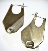 Fold and Facet Hoop Earrings