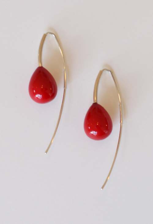 Red Cherry Earrings from Buds and Berries Series